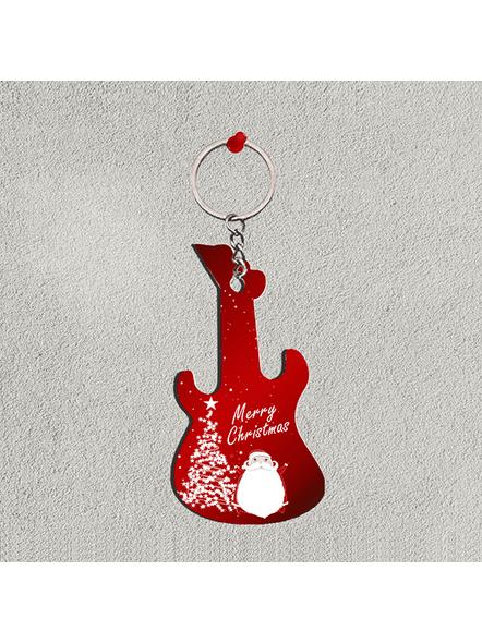 Merry Christmas Guitar Keychain-GUITARKC0002A