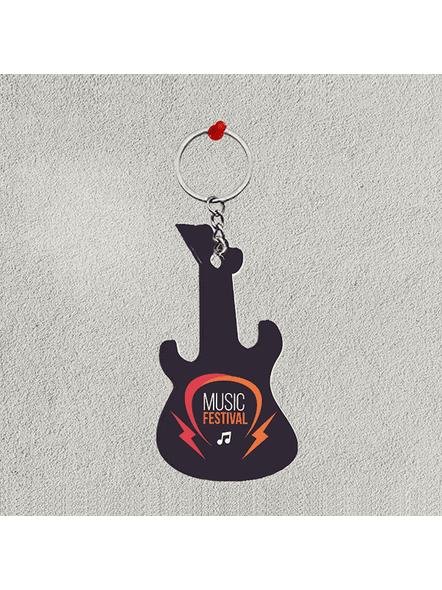Music Festival Guitar keychain-1