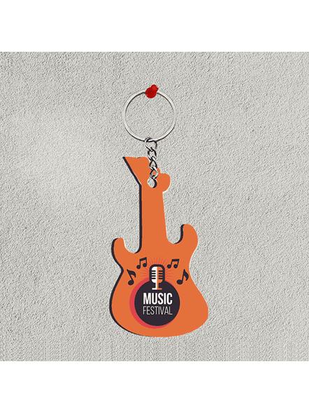 Music Festival Mic Guitar keychain-1