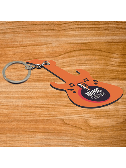 Music Festival Mic Guitar keychain-2
