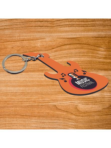 Music Festival Mic Guitar keychain-3