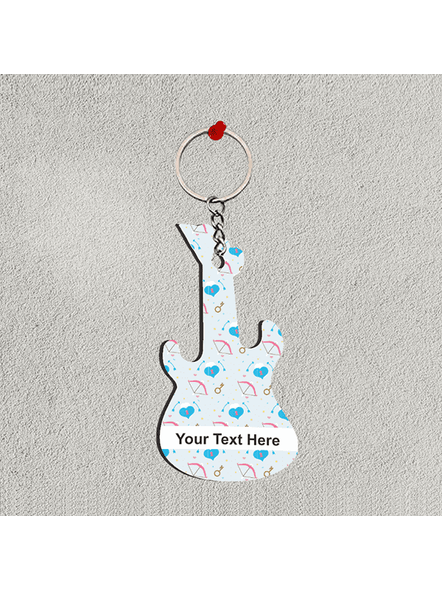 Arrow Printed Pattern Personalized Guitar Keychain-GUITARKC0015A