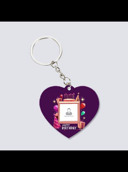 Happy Birthday Theme Personalized Heart Shaped Keychain-2