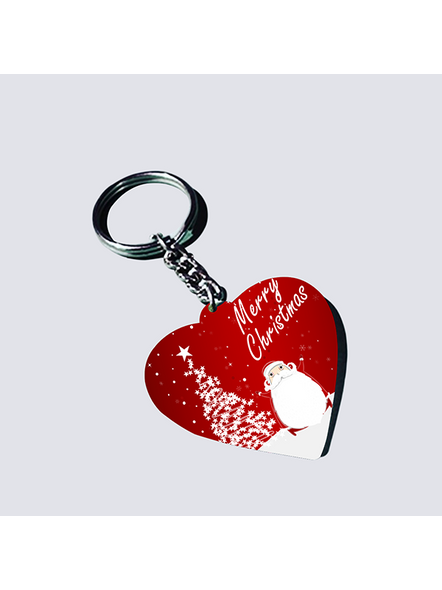 Merry Christmas with Senta Heart Shaped Keychain-1