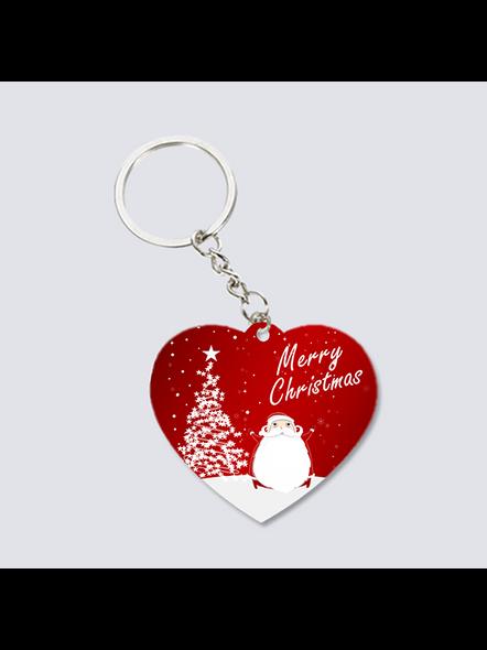 Merry Christmas with Senta Heart Shaped Keychain-2