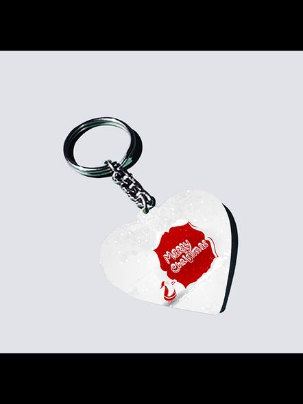 Senta Merry Christmas Heart Shaped Keychain-HEARTKC0004A
