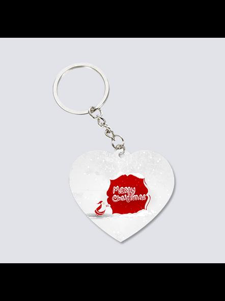 Senta Merry Christmas Heart Shaped Keychain-3