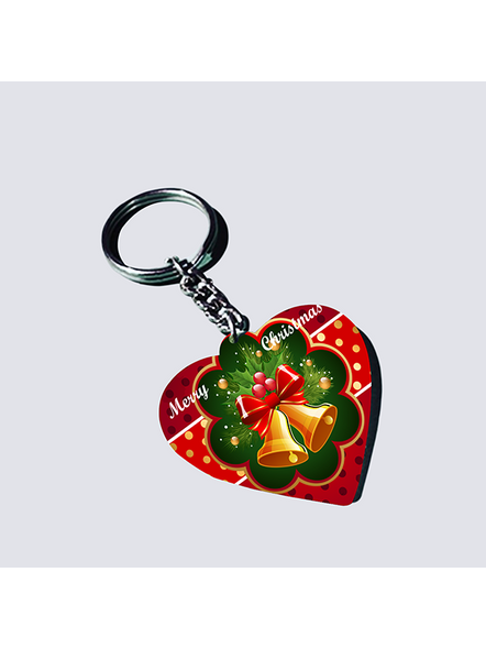 Christmas Bells Heart Shaped keychain-HEARTKC0006A
