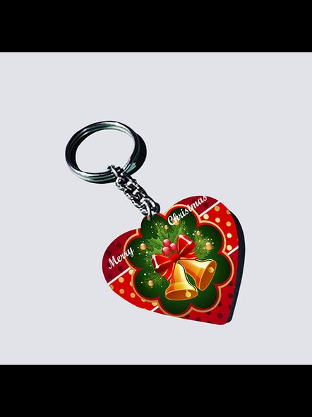 Christmas Bells Heart Shaped keychain-1