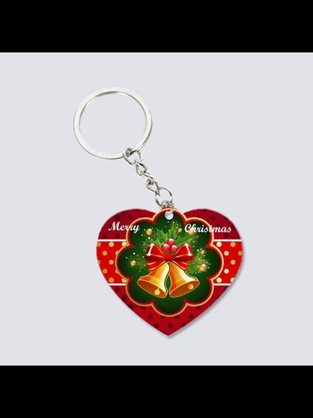 Christmas Bells Heart Shaped keychain-3