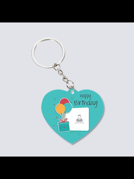 Happy Birthday Elegent Personalized Heart Shaped keychain-2