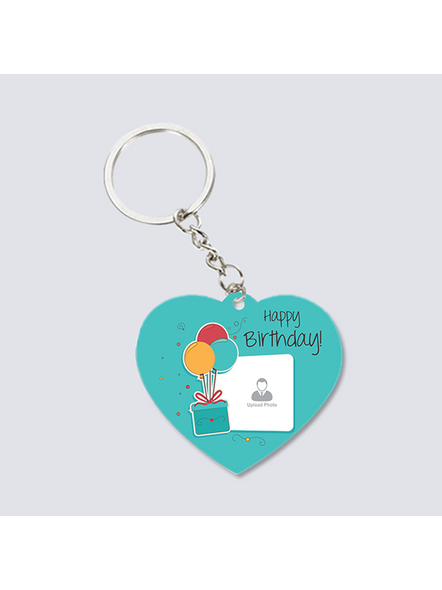 Happy Birthday Elegent Personalized Heart Shaped keychain-3
