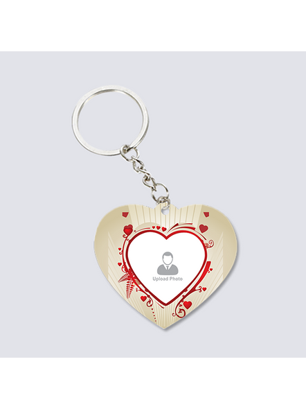 Designer Hearts Personalized Shaped Keychain-2