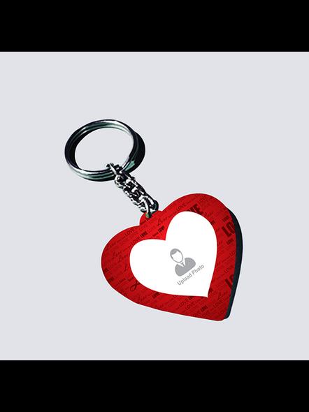 Love Text Customised heart keychain-HEARTKC0017A