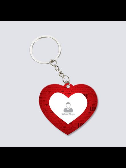 Love Text Customised heart keychain-3
