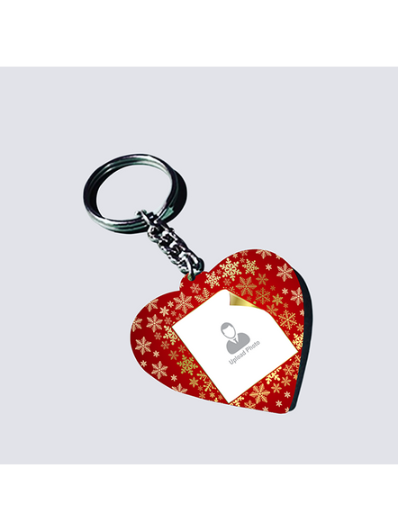 Designer Background Personalized Heart keychain-1