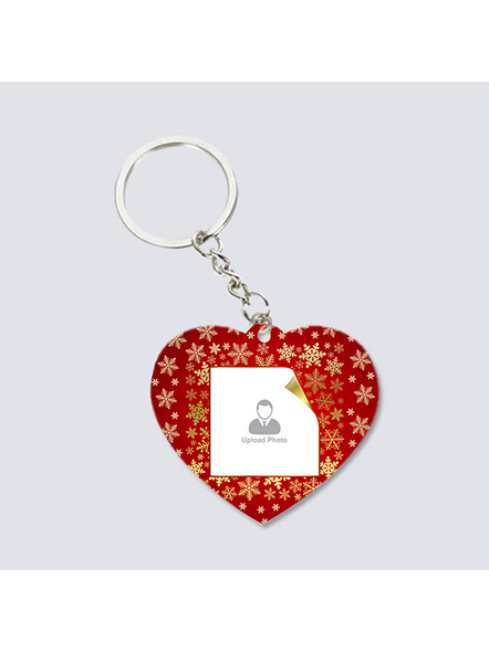 Designer Background Personalized Heart keychain-2