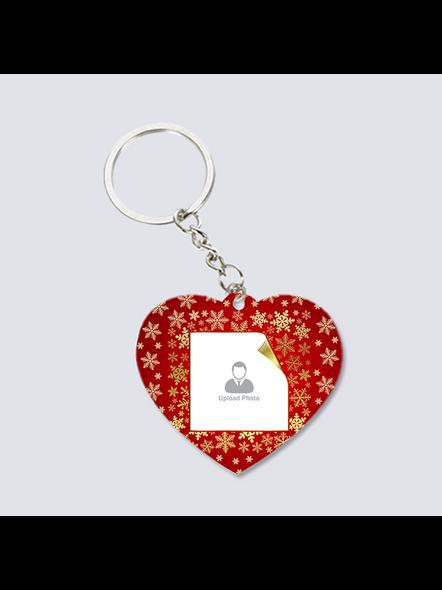 Designer Background Personalized Heart keychain-3