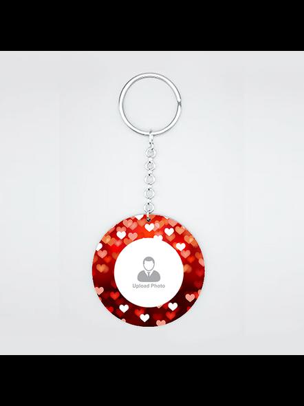 Blurry Hearts Customised Round Shape Keychain-2