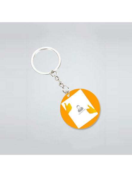 Thumbs Up Personalized Round Shape Keychain-3