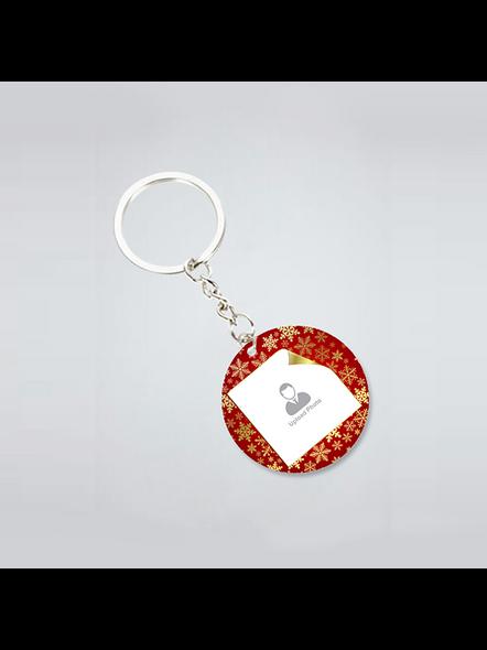 Golden Designer Personalized Round Shape Keychain-3