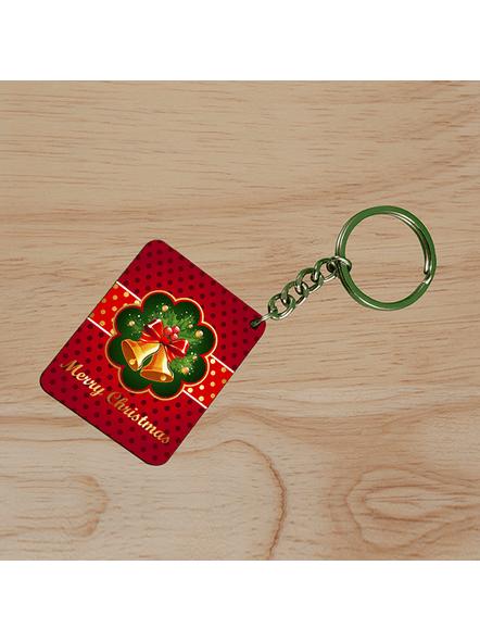 Jingle Bells Christmas Small Rectangle Shape Keychain-SSRECTC0006A