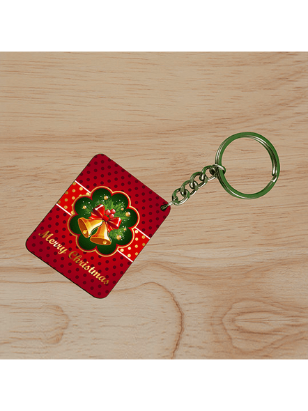Jingle Bells Christmas Small Rectangle Shape Keychain-1