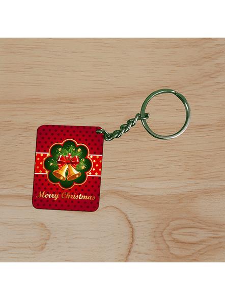 Jingle Bells Christmas Small Rectangle Shape Keychain-2