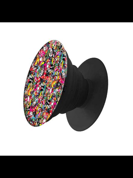 Mixed Designer Elegent Pop Socket-White-2
