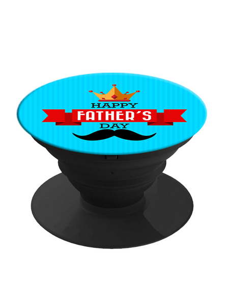 Happy Father's Day Printed Designer Pop Socket-White-1