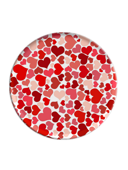 Small Hearts Printed Colourful Pop Socket-POPS0019A