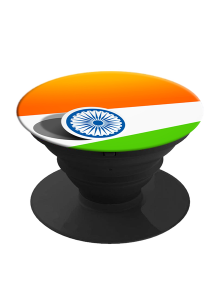 Indian Flag Printed Pop Socket-White-1
