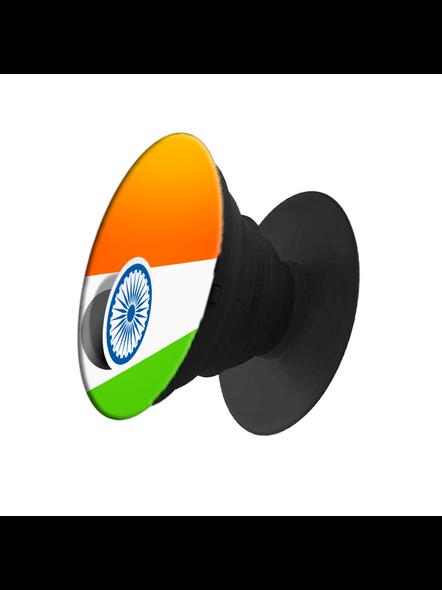 Indian Flag Printed Pop Socket-White-2