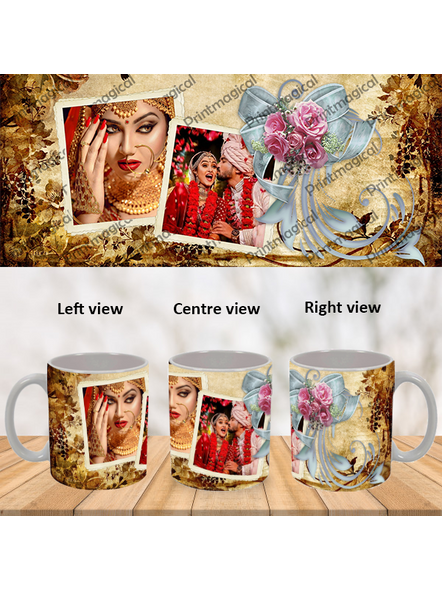 Beautiful Gold Pattern Personalized Special White Mug-WM0047A