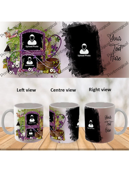 Beautiful Floral House Personalized 3 Photos Special White Mugs-1