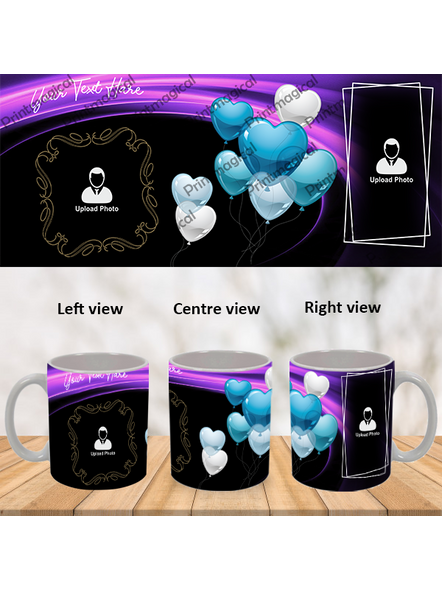 Flying Heart Balloons Personalized Special White Mug-1
