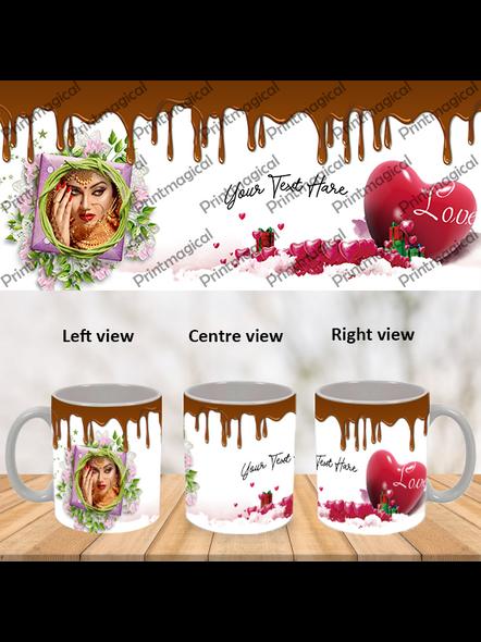 Chocolate Pudding Personalized Special White Mug-WM0053A