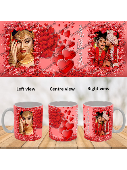 Valentine Hearts Pattern Elegant Looking Personalized Special White Mug-WM0055A