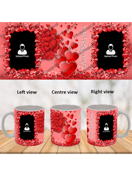 Valentine Hearts Pattern Elegant Looking Personalized Special White Mug-1
