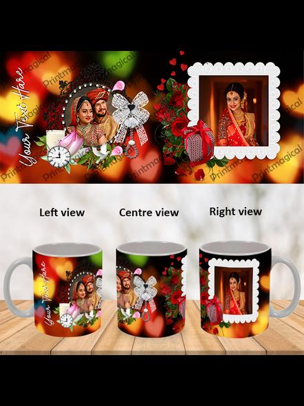 Wedding Frames Designer Personalized Special White Mugs-WM0063A