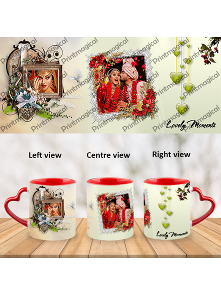 Lovely Moments Personalized Heart Handle Mug-HM0046A