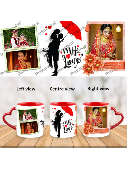 My Love Couple Love Personalized Heart Handle Mug-HM0056A