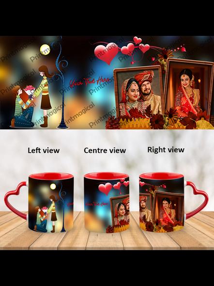 Proposing Couple Personalized Heart Handle Mug-HM0065A