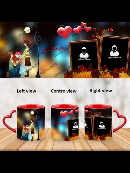 Proposing Couple Personalized Heart Handle Mug-1