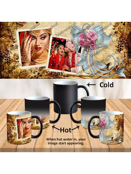 Beautiful Gold Pattern Personalized Black Magic Mug-MM0020A