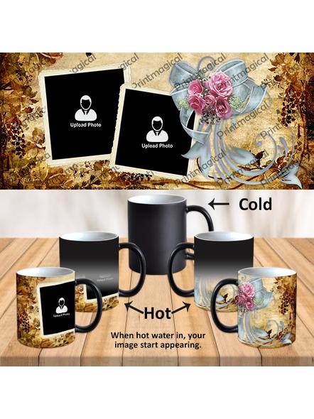 Beautiful Gold Pattern Personalized Black Magic Mug-1