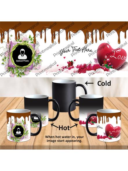 Chocolate Pudding Personalized Black Magic Mug-1