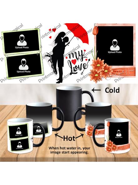 My Love Couple Love Personalized Black Magic Mug-1