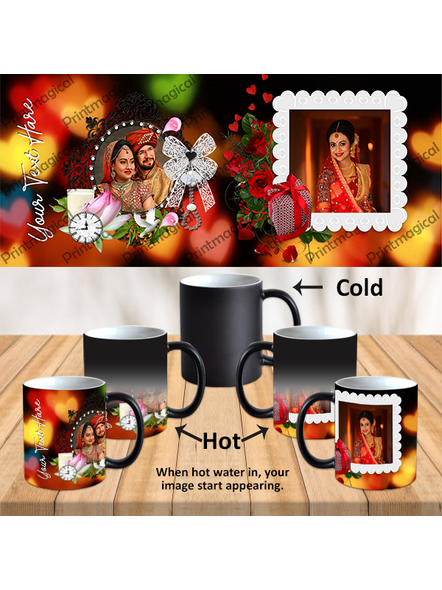 Wedding Frames Designer Personalized Black Magic Mugs-MM0036A