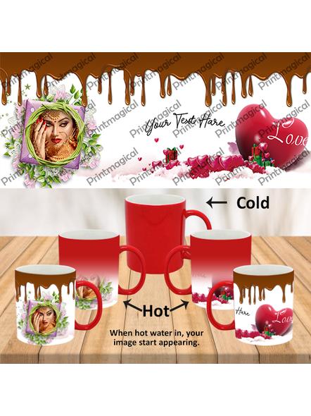 Chocolate Pudding Personalized Red Magic Mug-MMR0008A